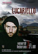 Locandina Lucariello al Museo del Sottosuolo di Napoli