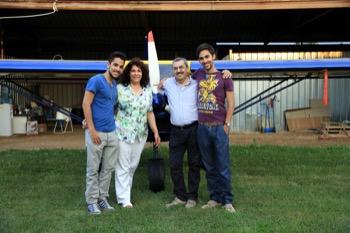Franco Coraggio con la moglie Matilde e i figli Marco e Luca foto Peppe Del Rossi