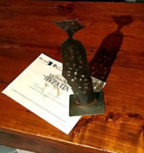 Il Premio Hypatiae, opera dell'artista Anna Maria Miglietta ispirata alla figura di Ipazia di Alessandra d'Egitto